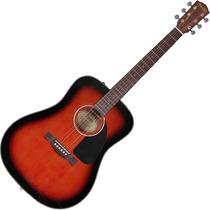 Violao Fender Folk Acústico Aço Dreadnought Cd60 Sunburst