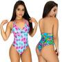 Maiô Feminino Estampado Lycra Bojo Moda Praia Verão Trend