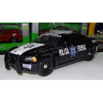 1:24 Dodge Charger 2006 Policia Federal Azul C Luz