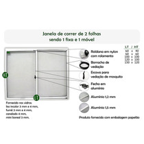 Janelas Em Alumínio 100x100 Vidro Fume 3mm 2folhas