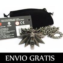 The Witcher 3 Medallon Collar Dije Original Envio Gratis