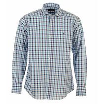 Camisa Brooksfield Hombre Algodón Cuadros Sport Moda