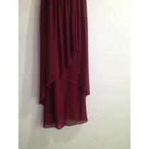 Vestido Largo Rojo Vino De Liverpool