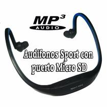 Audífonos Mp3 Inalambricos Recargables Con Puerto Micro Sd
