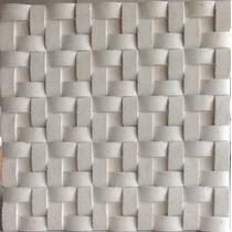 Placa Decorativa Mosaico Gesso 3d Trançado - Valor Do Metro