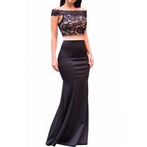 Sexy Elegante Vestido Largo Noche Fiesta Encaje 61131