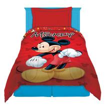 Acolchado Infantil 1 1/2 Plaza Reversible Mickey Disney