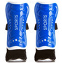 Caneleira Azul P/ Futebol Com Tornozeleira 18 X 11 Cm
