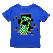 Camiseta Minecraft Infantil - Frete Grátis