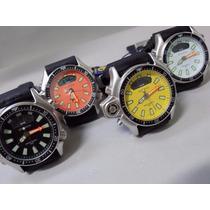 Relógio Atlantis Aqualand Original Mod 3220 Puls. Borracha