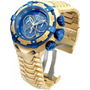 Relogio Invicta Dourado Azul Thunderbolt Gigante Iv17