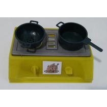 Kit 10 Brinquedo Fogão Com Panelas Cozinha Plástico