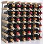Rack Para Vinho Em Madeira Para 56 Garrafas