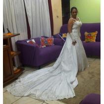 Vestido De Noiva Rabo De Peixe Com Grinalda