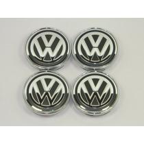 Kit 4 Peças Calotinha Centro De Roda Volkswagen 51mm