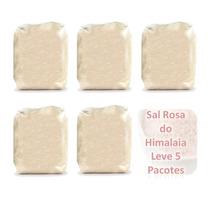 Sal Rosa Do Himalaia Natural - 5 Pacotes De 1kg + 2 Brindes