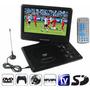 Reproductor Dvd Portatil 9,8 Tv Fm Juegos 12v Auto Usb C/rem
