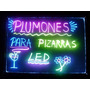 Pizarra Led Luminosa 80 X 60 Rgb + Control Remoto + 8 Fibras