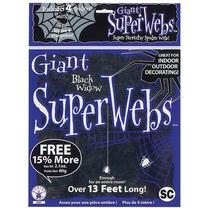 Disfraz De Halloween - Telarañas Grandes Negras Con 4 Arañas