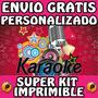 Kit Imprimible Karaoke Souvenirs Invita Personalizado Gratis