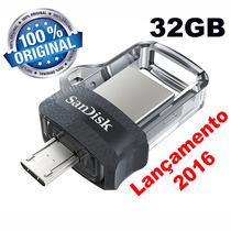 Pendrive 32gb Sandisk Pc E Celular Ultra Dual Drive Usb 3.0