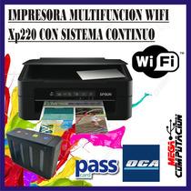 Impresora Multifuncion Epson Wifi Xp220 Con Sistema Oferta