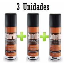 Kit Com 3 Colorific Retoque Instantâneo De Raiz Spray 120 Ml