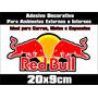 Adesivo Red Bull 3m Com Frete Gratis Capacetes Moto Carro