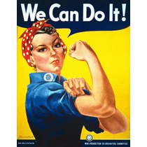 Poster Vintage En Alta Definicion We Can Do It