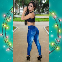 Legging Fitness-imita Jeans-grossa-panicats Linda