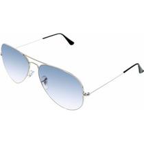 Gafas Ray Ban Aviador Azul Gradient Plateadas 3025