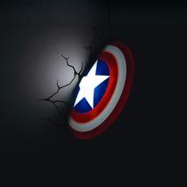 Escudo Capitan America Avengers Led Vinil Marvel Lampara