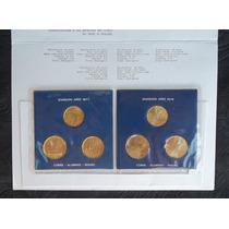 Blister Con 6 Monedas Bronce Mundial 78 Sin Circular