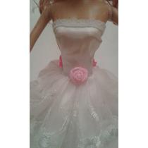 Vestido E Roupa De Luxo Para Barbie Boneca Festa+brinde