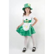Traje De Duende - Niñas Niños Irlandés Vestido De Lujo Medio