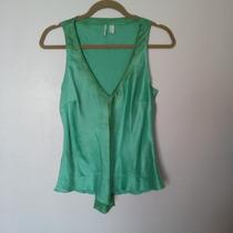 Limpia De Closet - Blusa Mango Seda Verde M