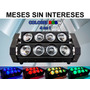 Steelpro Barra Movil Led Doble Rotatoria Spider Rgbw 4 En 1.