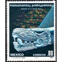 2794 México Monumentos Prehispánicos 3 Sellos Mint N H 1980