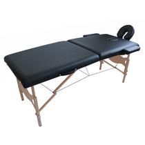 Mesa Maca De Massagem Dobrável Divã Cama Portátil Cor Preta