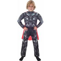 Disfraz Thor Deluxe Con Musculos Original Con Capa