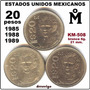 20 Pesos 1985, 88,y 89 Mo Guadalupe Victoria 3 Piezas