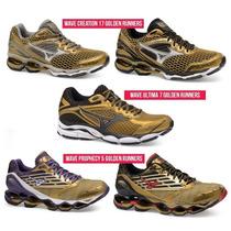 Mizuno Wave Creation 17 Golden Runners Cuidado Com Replicas
