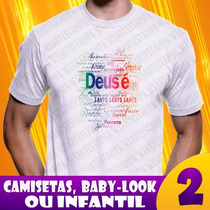 3 Camisa Religiosas Gospel Camiseta Evangélicas Frete Gratis