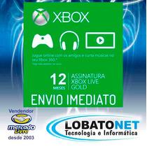 Cartão Xbox Live Gold 12 Meses 1 Ano (xbox 360 E One) Só Seu