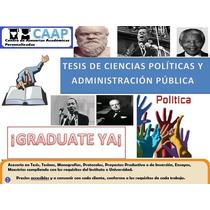 Tesis Ciencias Políticas Y Administración Pública Asesorías