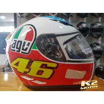 Capacete Fechado Agv K3 The Eye (olho) Valentino Rossi Vr46