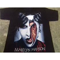 Playera, Marilyn Manson, Serigrafia, Talla M Y G
