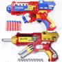 2 Pistolas Lançadora Dardos Nerf Homem De Ferro E Spider Men