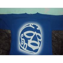 Playera Lucha Libre Huracan Ramirez Talla L Blue Demon Santo