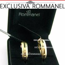 Par Alianças Rommanel Granitadas Folheada Ouro 511525 511525